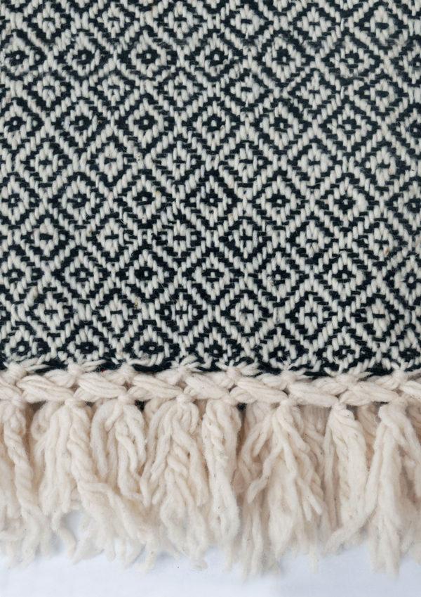 Mexican Black Wool Rebozo Throw - www.nidocollective.com #mexicantextiles #woolthrow