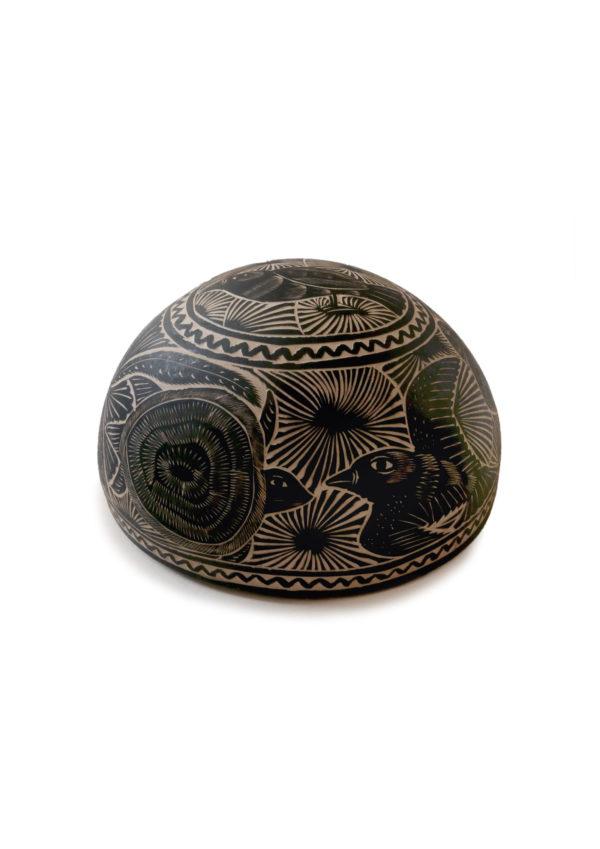 Carved Jicara Bowl- www.nidocollective.com #mexicancarvedbowl #carvedcalabash #jicara