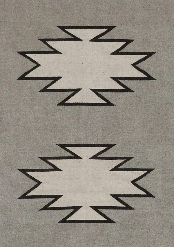 Grey Geometric Rug - www.nidocollective.com #mexicanrug #zapotecrug #teotitlandelvalle