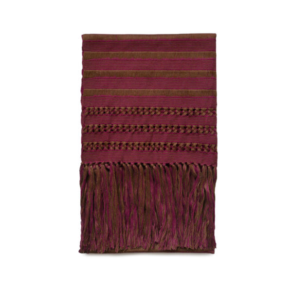 Burgundy Deshilado Shawl - www.nidocollective.com #ethicalaccessories #mexicanshawl #fridakhaloaccessories