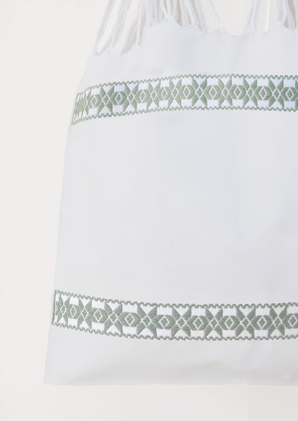 Mint Cotton Tote Bag - www.nidocollective.com #ethicalaccessories #mexicanbag